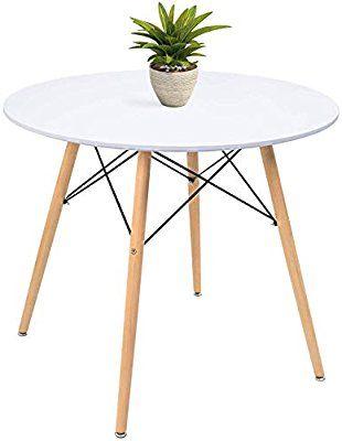 Download Wallpaper White Modern Round Kitchen Table