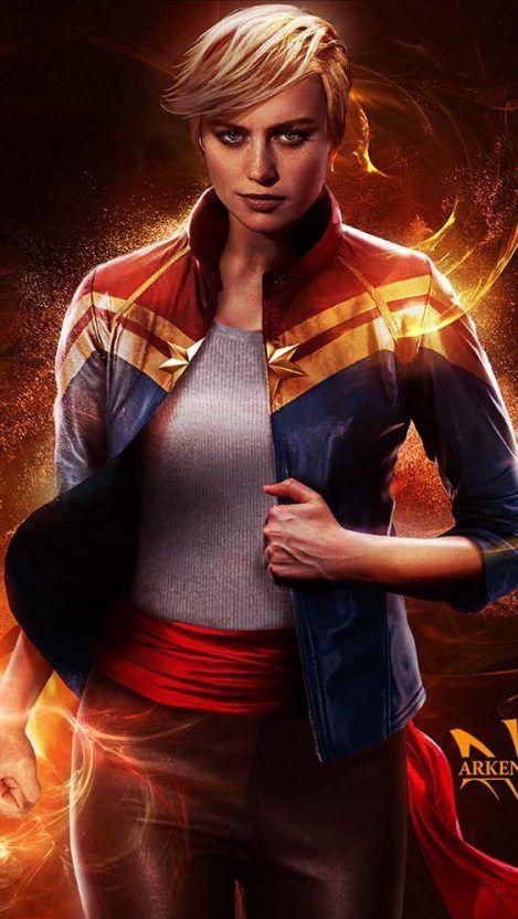 Brie Larson Captain Marvel Movie Iphone Wallpaper Free Getintopik In 2020 Captain Marvel Marvel Heroes Hero Wallpaper