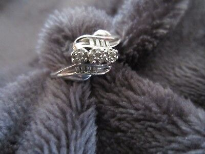 Gorgeous Sterling Silver Diamond Ring From The Brand Jwbr It Is Stamped 925 And Jwbr On The Sterling Silver Diamond Rings Kay Jewelers Rings Baguette Diamond