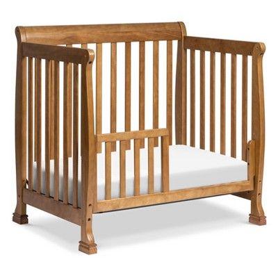 Davinci Kalani 4 In 1 Convertible Mini Crib And Twin Bed Chestnut Mini Crib Cribs Twin Bed
