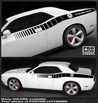 Dodge Challenger 2008-2019 Side Accent C-Stripes 132229426670   Pro Motor Stripes
