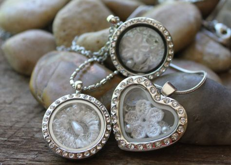 Wedding Lockets, custom memory lockets with your wedding dress, heirloom collection