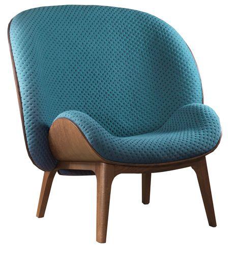 Jean-Marc Gady; Walnut and Oak Veneer 'Hug' Lounge Chair for Perrouin Sieges, 2014.