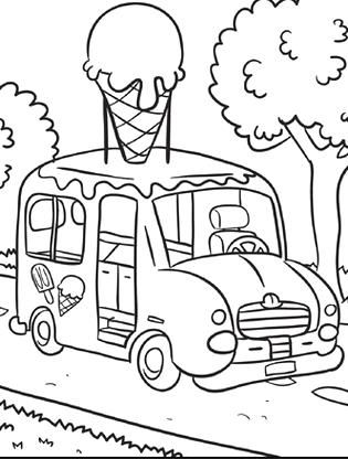 Worksheets Transportation Coloring Page Ice Cream Truck In 2020 Ice Cream Coloring Pages Truck Coloring Pages Ice Cream Truck