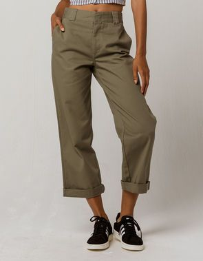 a06928d5e DICKIES Crop Roll Cuff Pants | Dickies Girl Clothing in 2019 ...