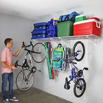 Proslat 8 Panel Set Und 20 Teiliges Hook Kit Bundle In 2020 Garage Storage Racks Wall Shelves Overhead Garage Storage