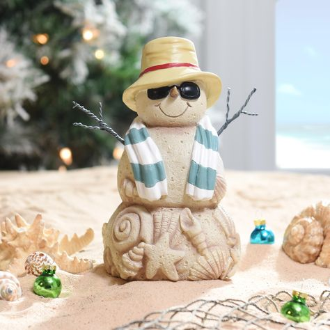 If you're celebrating Christmas on the coast this year, our Beach Bernie Snowman Statue is here to bring some festive charm to those warmer temperatures. Display him on your bookshelf or coffee table to spread some sunny, holiday cheer.