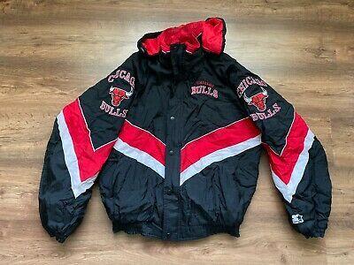 Nba Chicago Bulls Down Jacket Basketball Shirt Jersey Starter Ebay In 2020 Basketball Shirts Down Jacket Nba Chicago Bulls