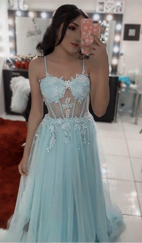 16++ Blue corset prom dress ideas