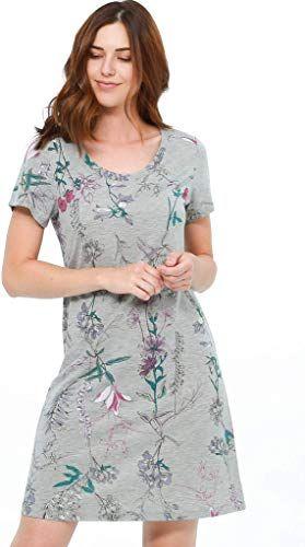 Jones New York Womens Sleepwear Nightgown One-Piece Nightwear Soft Lightweight Comfortable Nightshirt for Women