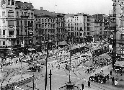 1929 Frankfurter Allee Spaeter Stalinallee Ecke Warschauer Strasse Baustelle Der U Bahnlinie E Historische Bilder Berlin Geschichte Historisch
