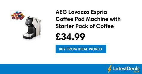 Aeg Lavazza Espria Coffee Pod Machine With Starter Pack Of