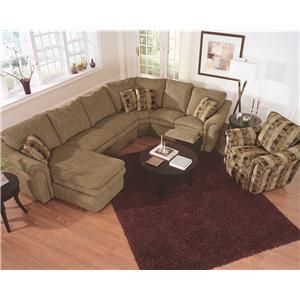 Devon 4-Piece Reclining Sectional Sofa with Left-Side Chaise by La-Z-Boy - Wolf Furniture - Reclining Sectional Sofa Pennsylvania Maryland Virginu2026  sc 1 st  Pinterest : lazy boy sectional sofas - Sectionals, Sofas & Couches