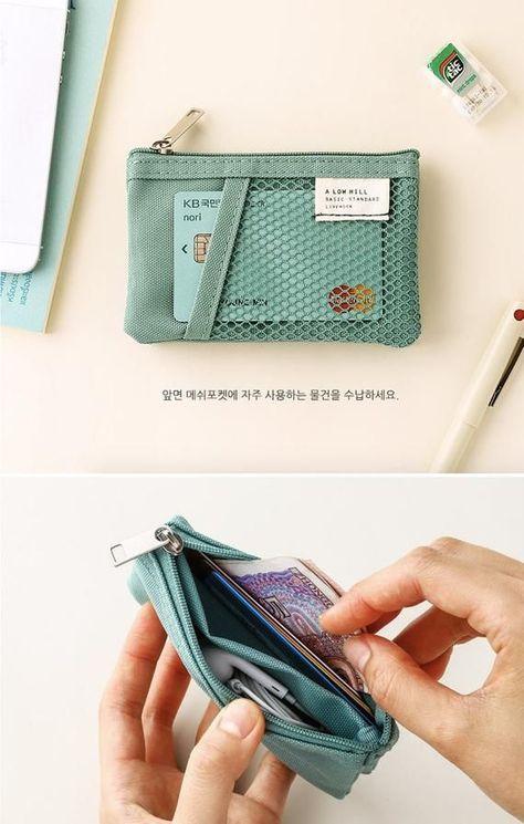 Mesh Mini Pocket Pouch / Coin Purse / Travel Wallet / Cosmetic Pouch / Business Card Case / Zipper Pouch / Makeup Bag / Makeup Pouch - Source by LautNieStill