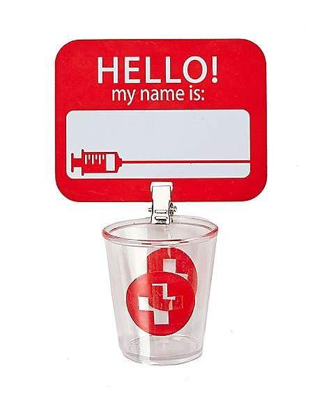 Nurse Badge With Shot Glass Spirithalloween Com Vet