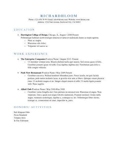 riley kain (rileykain89) on Pinterest - Examples Of Resumes For Restaurant Jobs