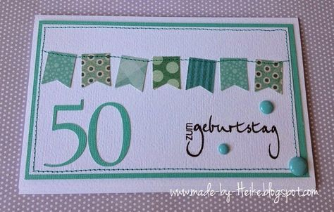 Zum 50 Geburtstag Stampin Up Karten Geburtstag Geburtstag