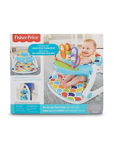 Fisher Price Deluxe Sit Me Up Floor Seat With Toy Tray Multi