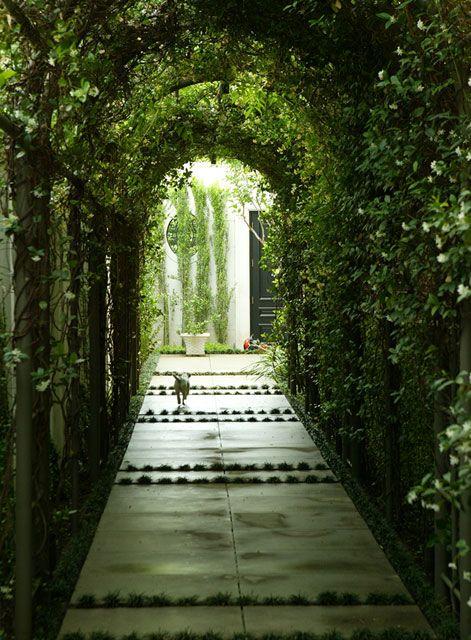 Covered Walk Design By Bellamy Design Dallas Landscape Design Lawn Design Lawn And Garden