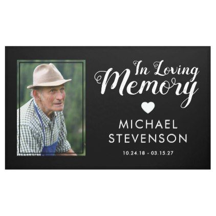 In Loving Memory Funeral Memorial Photo Banner Zazzle Com Funeral Memorial In Loving Memory Funeral Songs