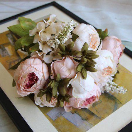 Home Silk Flower Bouquets Inexpensive Flower Arrangements