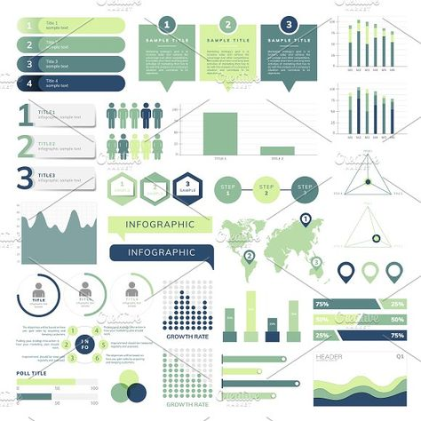 Set of business infograph vectors by rawpixel on @creativemarket #sponsored #graphicassets #graphicdesign #design #art #motivational #graphic #designs #graphicscollection #template