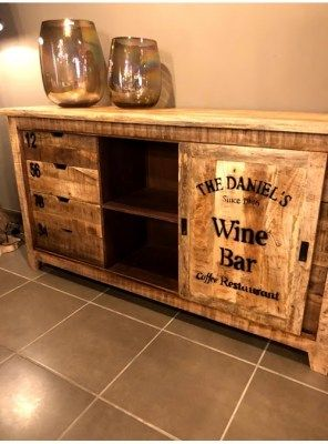 Credenza In Legno Stile Vintage Wine Bar Credenza Legno