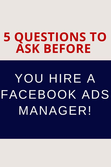 Want to Outsource Facebook Ads? Ask These 5 Questions First!