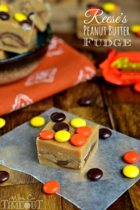 This wonderfully easy Reese's Peanut Butter Fudge takes only 5 minutes to prepare and will satisfy your deepest peanut butter cravings! | Mo...