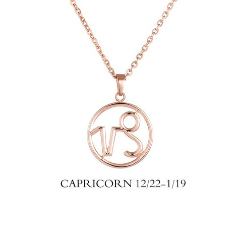 Capricorn Necklace Capricorn Zodiac Sign/ Constellation Necklace Available In Rose Gold Plated, 18k Gold Plated, Stainless Steel, Black Plated. Chain Type: Link Chain Length: 45cm+5cm Pendant Size:1.6x1.6x0.3cm Material: Stainless Steel Free 1-5 day shipping with all USA orders. International Orders Contact us. Sold out Inventory restocked every two weeks. (Attention) If shopping cart will not let you add the quantity of the color you want, it means the item is sold out or nearly sold out in the