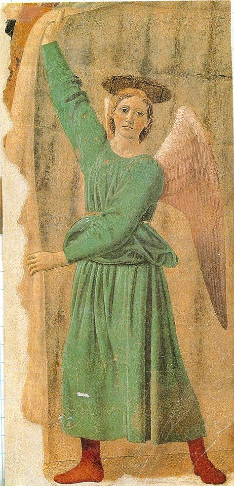 La Vierge de l'Espérance -  Piero Della Francesca -   Madonna del Parto Vers 1460 Technique Fresque  206x203cm -  Exposé à Monterchi (Italie) au Museo della Madonna del Parto