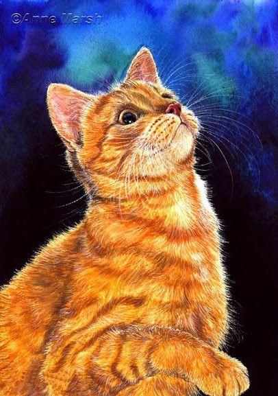 Cat Print Noblesse from original by by Irina Garmashova
