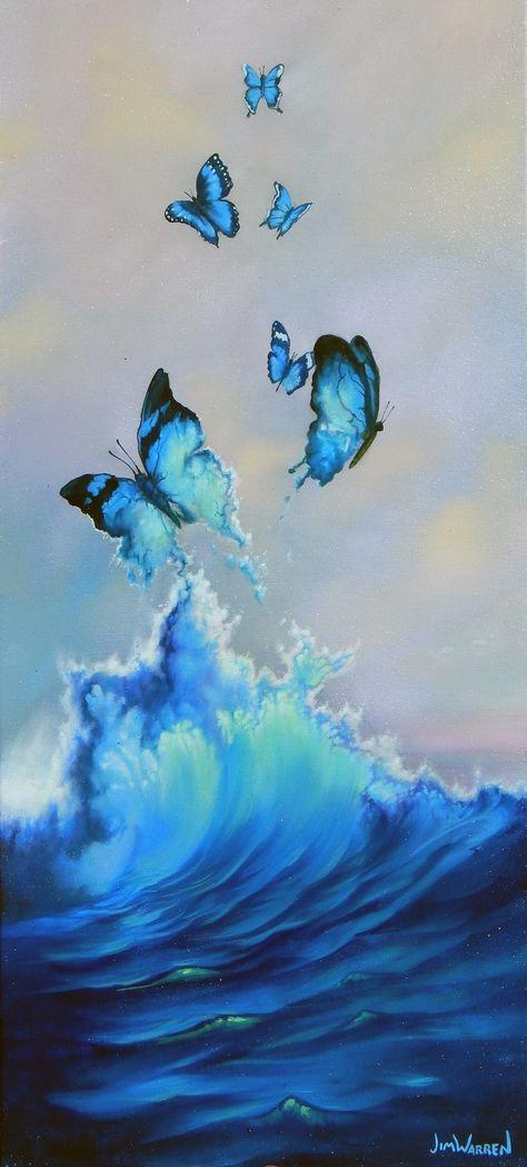 Blue Butterflies - LG-22x44