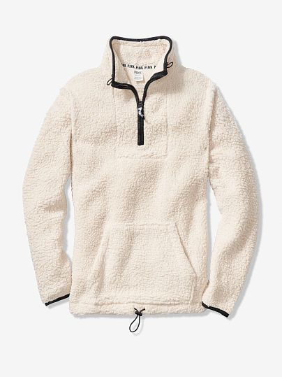 482eb4d1b4db2 Sherpa Quarter-Zip from Pink size Small in white (champagne ...