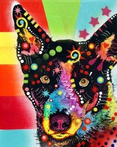 This isn't my art but I thought you might appreciate it.  Blue Heeler Mixed Media Pop Art Dog Painting by deanrussoart