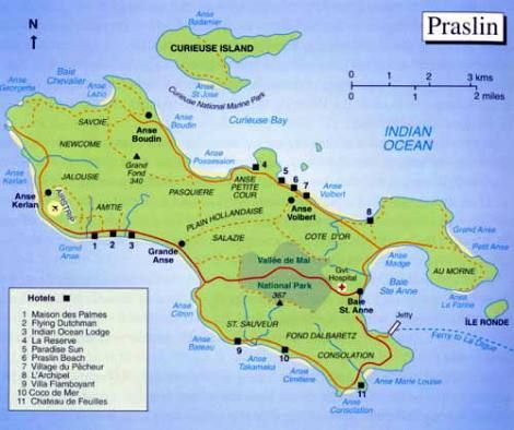 Praslinmapjpg Indian Ocean Islands Seychelles - Indian ocean seychelles map