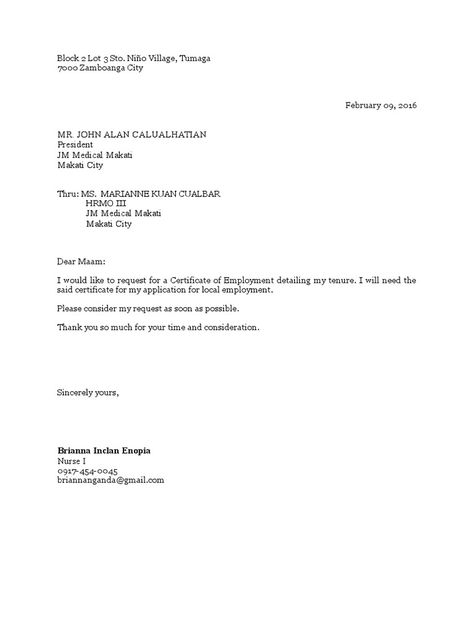 request for certificate employment docshare letter pictures pin - medical fitness certificate