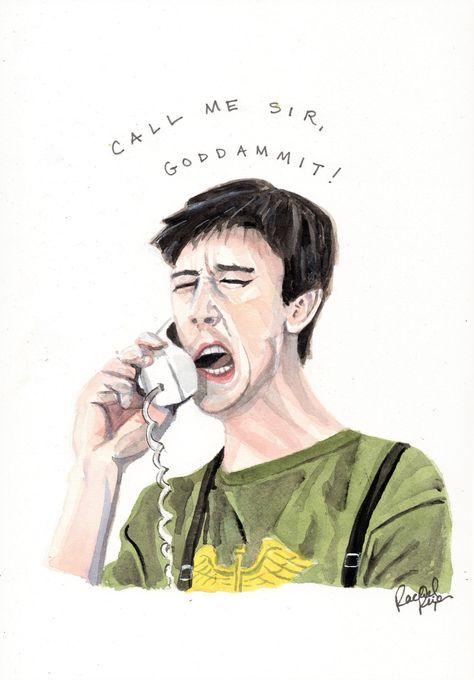Ferris Bueller's Day Off- Cameron Frye- ORIGINAL WATERCOLOR PAINTING