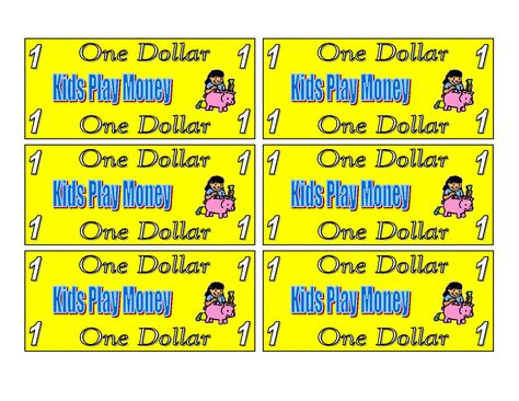Blank Play Money Printable Free New Calendar Template Site - play money template