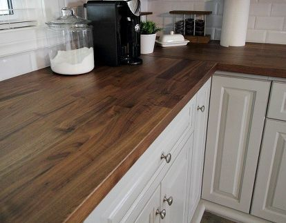 How To Make Your Own Diy Beautiful Wood Countertops For Under 200 With Images Wood Countertops Kitchen Kitchen Renovation Wood Kitchen Counters