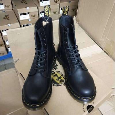 b553ca3137f Dr. Martens 1460 Black Nappa Soft Leather Boots 8 Hole Unisex MenS ...