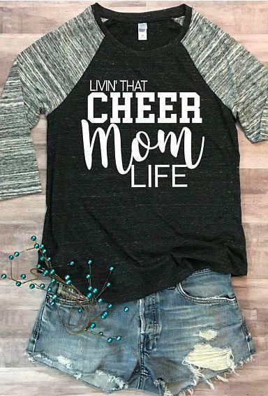 53ce44947189 $36 Cheer Mom Life Eco Jersey Raglan. Cheerleading, cheer squad. #momlife # cheerleading #ad