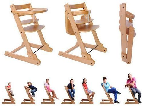 Chaise haute enfant pliable Evolutive Ibaby Evo. (Coussin inclus). Natural Color: Amazon.fr: Bébés & Puériculture