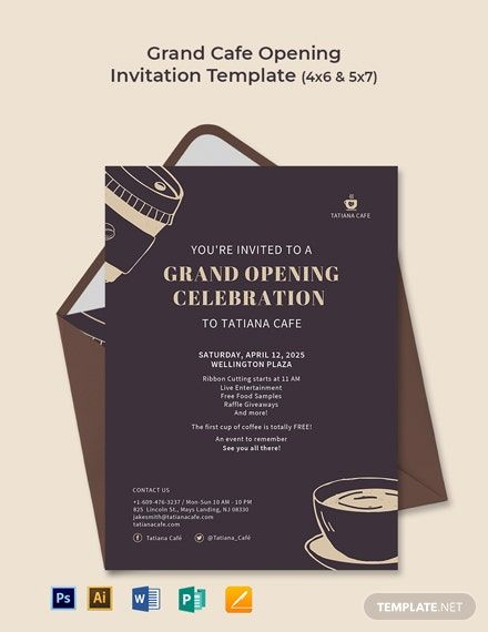 Free Restaurant Grand Opening Invitation Template Word Doc Psd Indesign Apple Mac Pages Grand Opening Invitations Invitation Template Invitations