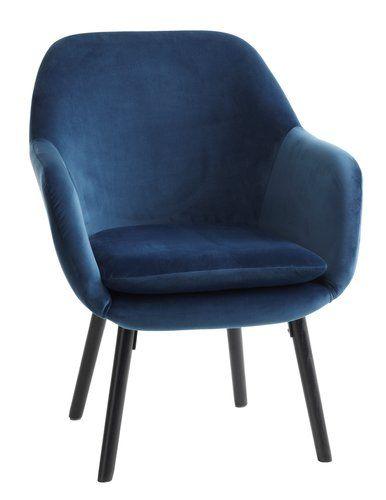 Nieuw Πολυθρόνα UDSBJERG βελουτέ σκούρο μπλε | JYSK | Living Room in HA-69