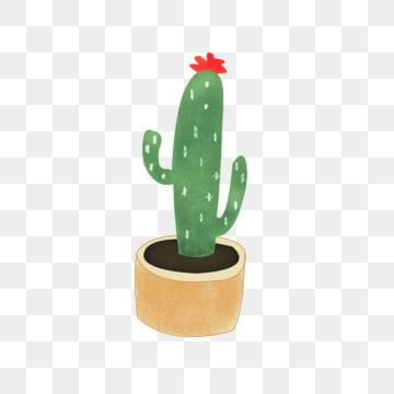 Mbe Style Cartoon Cute Plant Flower Cactus Element Material Cartoon Plant Plant Material Mbe Png And Vector With Transparent Background For Free Download Plant Cartoon Green Flower Pots Spring Flowers Background