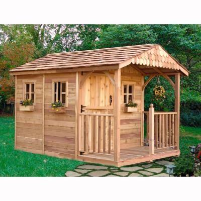 outdoor living today santa rosa 12 ft x 8 ft cedar garden shed outdoor living tiny living and tiny houses - Garden Sheds Home Depot