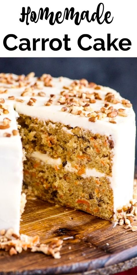 moist and delicious Homemade Carrot Cake. A simple traditional Cake, with a creamy Cream Cheese Frosting.A moist and delicious Homemade Carrot Cake. A simple traditional Cake, with a creamy Cream Cheese Frosting. Easy Carrot Cake, Moist Carrot Cakes, Carrot Cake Frosting, Carrot Cake Cupcakes, Carrot Cake Topping, Chocolate Carrot Cake, Carrot Cake Loaf, Carrot Cake With Pineapple, Carrot Cake Cheesecake
