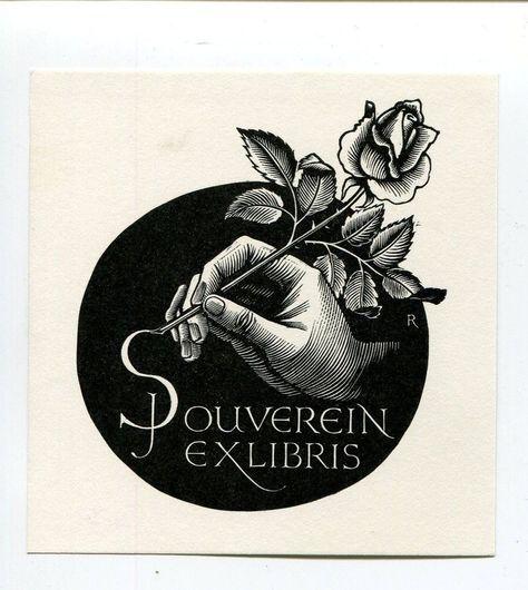 Ex Libris By Pam Rueter Op 470 Ex Libris Vintage Illustration Art Sketch Book