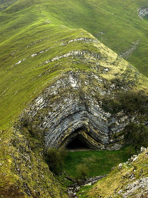 Harpea's Cave, Navarra, Spain, if you can't figure out the anticline here maybe geology isn't for you....